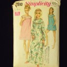 Vintage 60s Simplicity 7910 Nightgown with Bloomers Pattern
