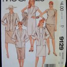 Vintage 80's McCall's  9129 Jacket Dress or Top and Skirt Pattern Raglan Sleeves Square Neck