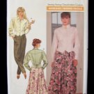 Butterick  4385 Jacket Top Skirt and Pants Pattern Full Skirt Retro 80's Uncut
