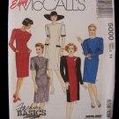 McCall's 5000 Chemise Dress Pattern Jewel Neckline Princess Seams Size 14