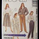 McCall's 4388 Cropped Jacket Blouse Full Skirt Pants Pattern Retro Dolman Sleeves 80's Uncut