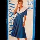 Butterick 4797 Cropped Jacket Shawl Collar Dress Suit Pattern Size 12-16