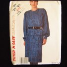 McCall's  2172 Long Top and Skirt Dress Sewing Pattern Vintage 80's Size 14-18