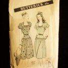 Vintage 40's Butterick No 3824 Day Dress Pattern Cap or Balloon Sleeve Yoke Waistline Size 14