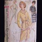 Vintage 60's Simplicity  5258 Loose Fit Button Front Dress Pattern Size 18