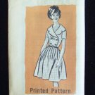 Vintage Mail Order Dress Pattern  9384 60's Shawl Collar Full Pleated Skirt Uncut Size 14