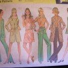 Vintage 60's McCall's 2210 Pants Jacket Coat Mini Dress Blouse and Hat Sewing Pattern Uncut