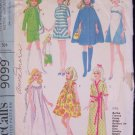 Vintage 1960s McCalls  9099 11.5 Inch Doll Dress Wardrobe Pattern Fits Barbie and More