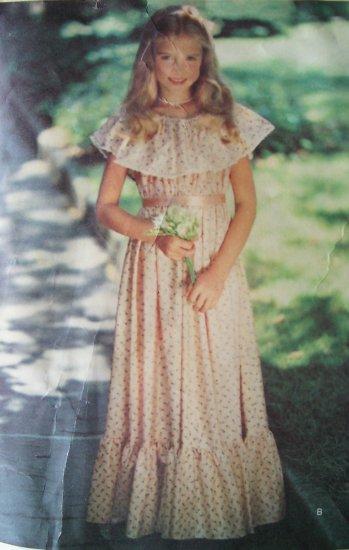 Vintage 80s Very Little Vogue 2358 Flower Girl Dress
