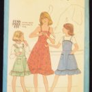 Simplicity 8544 Girls Sundress or Jumper Sewing Pattern Shoulder Straps Ruffle Edge