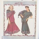 Retro 80s Simplicity Daisy Kingdom 9418 Skirt Top and Scarf Pattern Uncut