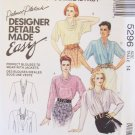 McCall's  5296 Blouse Pattern Wrap Front Cowl Collar and Draped Style Uncut Size 14