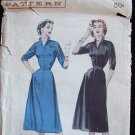 Vintage 50s Butterick  6700 Wing Collar Day Dress Pattern Size 18