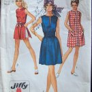 Vintage 70s Simplicity  8832 Summer Mini Dress or Tunic Top and Shorts Pattern Size 16