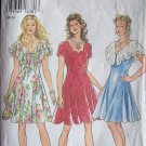 New Look  6309 Summer Party Prom Dress Pattern Flounce Neckline Size 6-16
