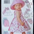 Butterick  6033 Infant Summer Dress Top Shorts and Hat Pattern Uncut Size NB-M