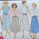 Butterick  3826 Flared or A-Line Skirt Pattern Uncut Size L to XL Retro 80s