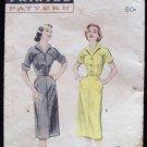 Vintage 50s Butterick 6434 Shirtwaist Dress Pattern Stand Up Lapel Collar Slim Skirt