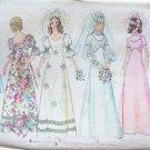 Vintage 70s Simplicity  5462 Wedding Gown Bridesmaid Dress Bridal Pattern Size 12