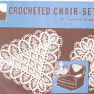 Vintage Superior Needlework No 302 Crocheted Chair Set Pattern In Pineapple Design