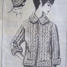 Vintage 60s Mail Order Pattern No 5327 Jumbo Knit Sweater and Hat Instructions Sheet