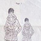 Vintage 70's Mail Order Pattern No 9410 Crocheted Topper Jacket Instruction Sheet