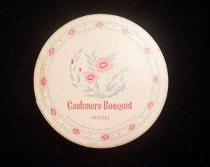 Vintage 1950�s Cashmere Bouquet Face Powder Box Natural Rachel No1