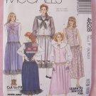 Retro 80s McCalls  4628 Jumper Dress Detachable Collar and Appliqués Sewing Pattern Uncut