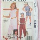 Vintage McCall's  9448 Brooke Shields Collection Girls Jumpsuit Pattern Uncut Size 8