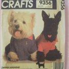 Retro 80s McCall's Crafts  9356 Dapper Dogwear Sewing Pattern Raincoat, T-Shirt Collar Uncut