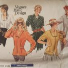 Vogue  2105 Basic Couture Blouse Sewing Pattern Size 12-14