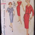 Vintage 50s Simplicity 2841 Wiggle Dress Double Breasted jacket Sewing Pattern size 14