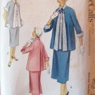 Vintage 50s McCall's 9268 Maternity Jacket and Skirt Dress Pattern Size 14
