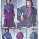 Retro 80s Simplicity  7687 Blouse Pants Skirt Lined Jacket Pattern Uncut Size 14