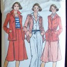 Vintage 70s Butterick  4658 Jacket Skirt Pants And Belt Pattern Work or Weekend Suit Size 16