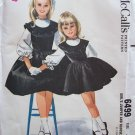 Vintage 60's McCall's  6499 Girl's Jumper Dress and Blouse Pattern Uncut Size 4