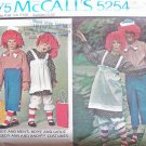 Vintage 70s McCall's  5254 Raggedy Ann and Andy Costume Uncut Adult Size Small