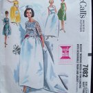 Vintage McCall's  7082 Bridal Gown or Bridesmaid Wedding Dress Pattern Uncut Size 10