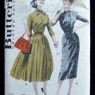 Vintage Butterick 7890 Wiggle or Full Skirt Dress Pattern Johnny Collar Size 12