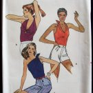Vintage Butterick 3181 Halter Top Sewing Pattern Uncut Size 12 Three Styles