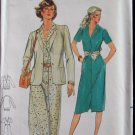 Vintage 70s Butterick 6969 Shirt Sleeve Button Front Dress and Jacket Pattern Uncut