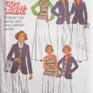 Vintage 70s Simplicity 7930 Pullover Tank Top Pants Skirt and Jacket Pattern Uncut Size 12