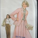 Vintage 70s Simplicity 8434 Skirt Blouse and Pants Pattern Uncut Size 12