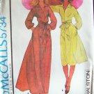 Vintage 70s McCall's 5734 Halston Evening Dress Pattern Shirt Collar Long Sleeve Uncut