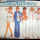 Vintage 70s McCall's 6075 Raglan Sleeve Jacket Tunic Top Pants or Shorts Pattern Uncut