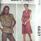 Vintage 70's McCall's 6637 Sleeveless Dress or Top Sewing Pattern Uncut Size 14-16