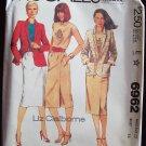 Vintage 1980 McCall's 6962 Liz Claiborne Jacket T-Shirt and Skirt Pattern Uncut Size 12