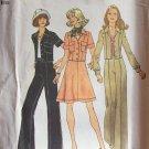 Vintage 70s Simplicity 6812 Cropped Jacket Short Skirt and Pants Pattern Uncut Pantsuit