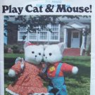 Vintage Butterick 5666 Stuffed Animal Cat and Mouse Doll Pattern Uncut