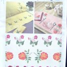 Vintage Simplicity 6442 Floral Embroidery Transfer Pattern Roses Unused